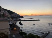View from out hotel in Amalfi